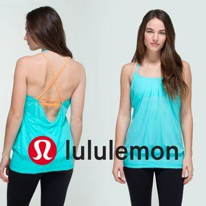 [Lululemon] Blue Orange Strappy Tank Top